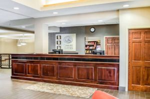 Comfort Suite Carlisle front desk